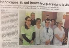 article Ouest France : «Handicapés, ils ont trouvé leur place dans la ville»