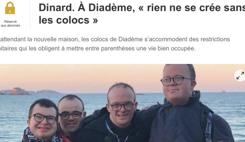 article Ouest France : À Diadème, « rien ne se crée sans les colocs »